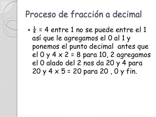 Conversi 243 N De Fracciones A Decimales