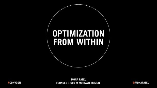 Optimization From Within - Conversion Conference 2016