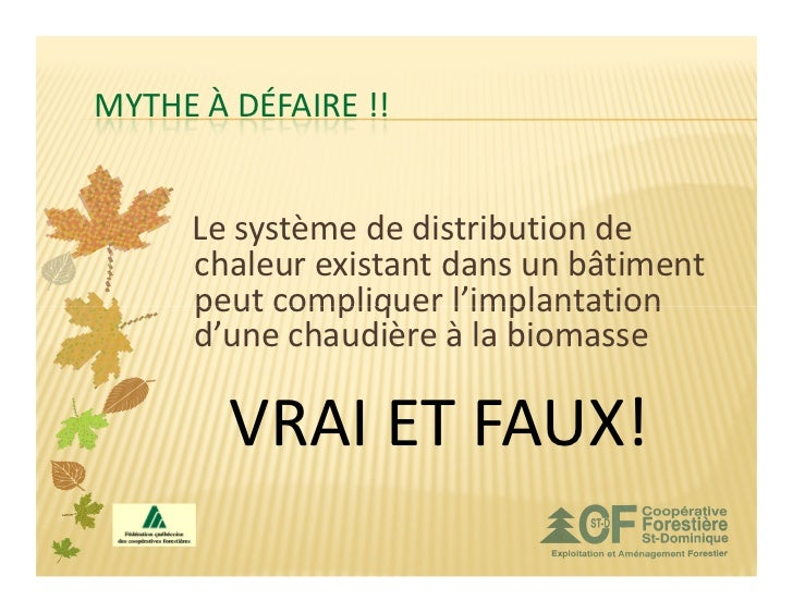 MYTHE À DÉFAIRE !!     Le système de distribution de     chaleur existant dans un bâtiment     peut compliquer l'implantat...
