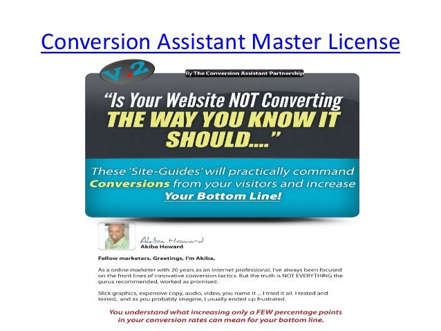 Conversion Assistant Master License