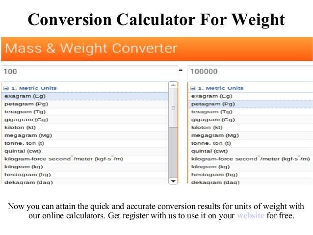 Conversion Calculator Volume