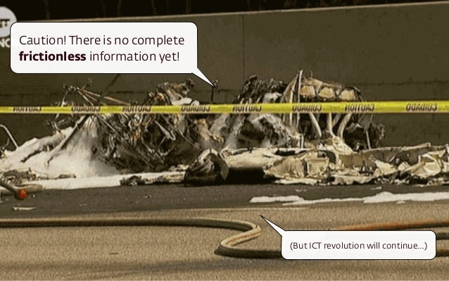 (But ICT revolution will continue…) Caution! There is no complete frictionless information yet!
