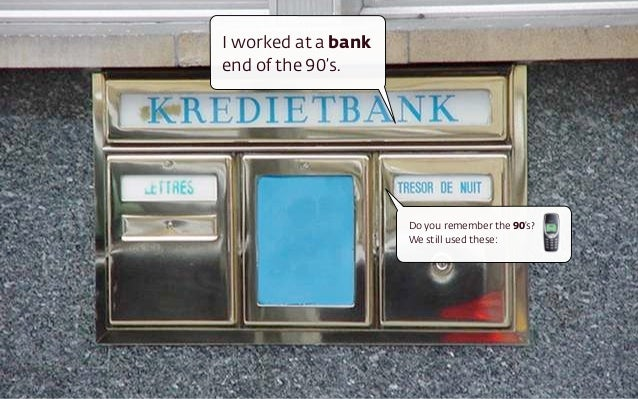 I worked at a bank end of the 90's. Do you remember the 90's? We still used these: