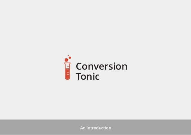 Conversion Tonic  An Introduction