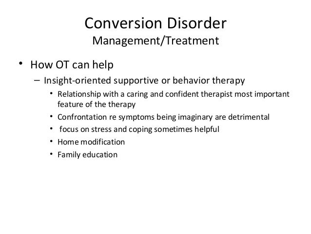 how to stop conversion disorder