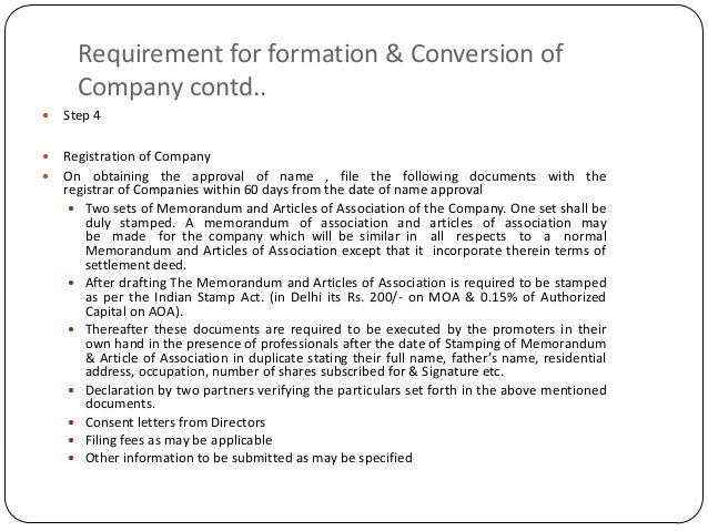 Conversion Of Firm To Llp And Pvt Ltd Co