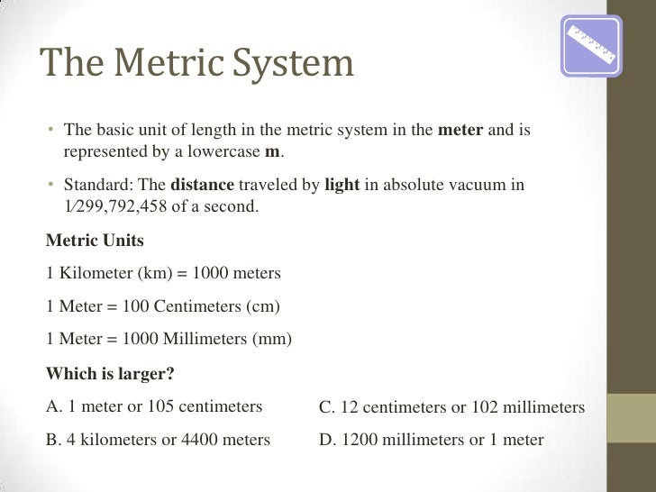 Simple Metric System Chart Ibovnathandedecker