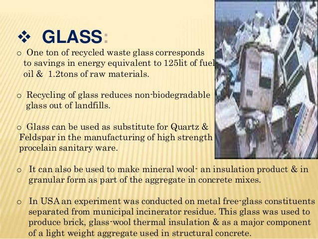 Conversion of waste material into useful products for Use of waste material