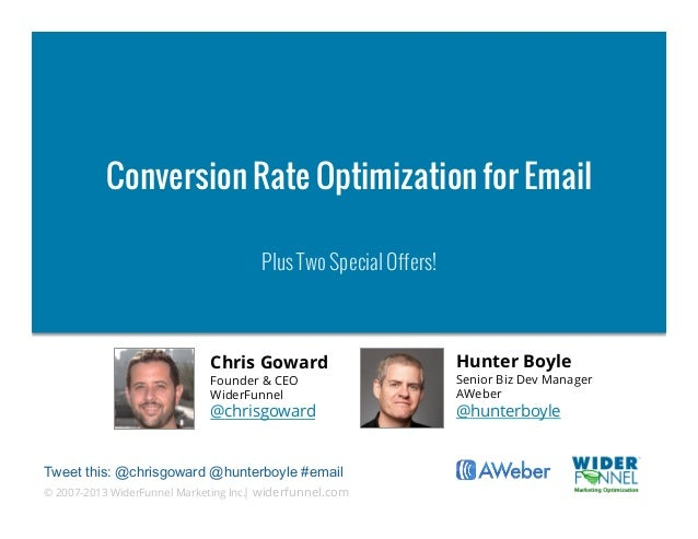 Conversion Rate Optimization for Email                                      Plus Two Special Offers!                      ...