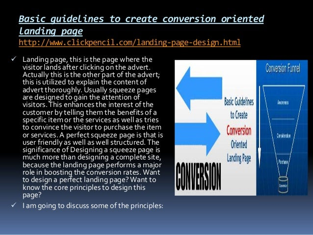 Basic guidelines to create conversion oriented landing page http://www.clickpencil.com/landing-page-design.html  Landing ...