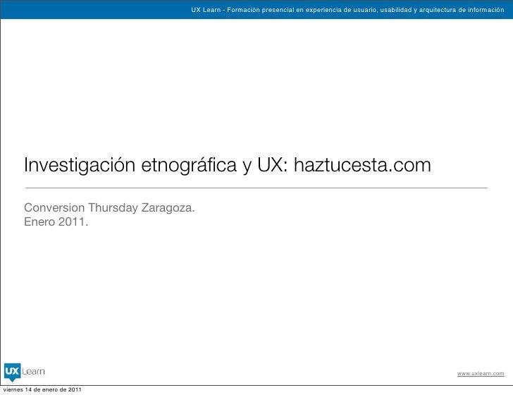 UX Learn - Formación presencial en experiencia de usuario, usabilidad y arquitectura de información            Investigaci...
