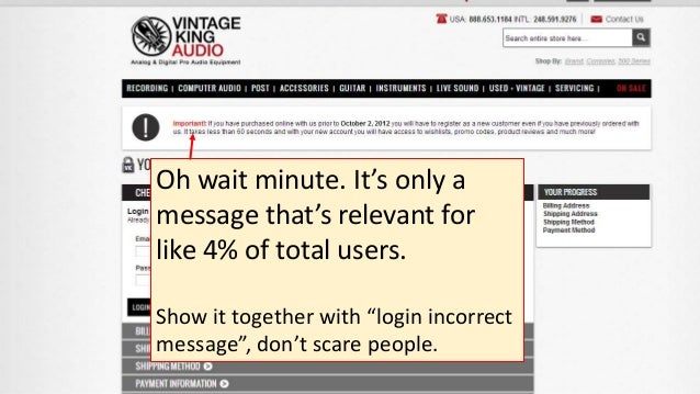 """Oh wait minute. It's only a message that's relevant for like 4% of total users. Show it together with """"login incorrect mes..."""