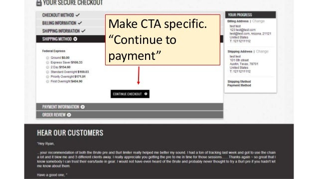 """Make CTA specific. """"Continue to payment"""""""