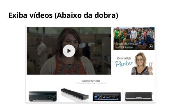 Exiba vídeos (Abaixo da dobra)