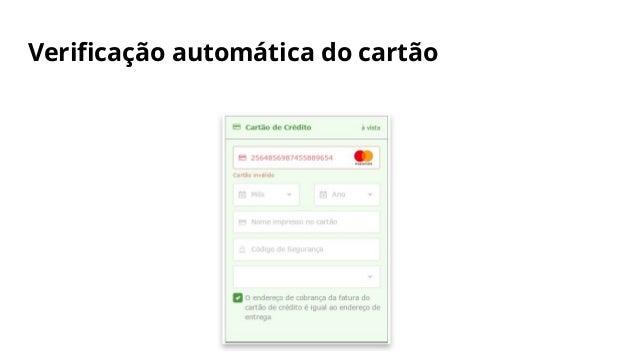 Verificação automática do cartão