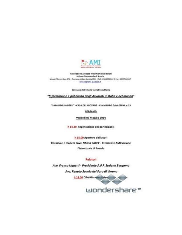 Locandina convegno avvocati 9 maggio 2014