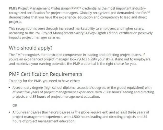 Pmp certification training cost exam fee sample questions course eli pmis project management professional yadclub Gallery