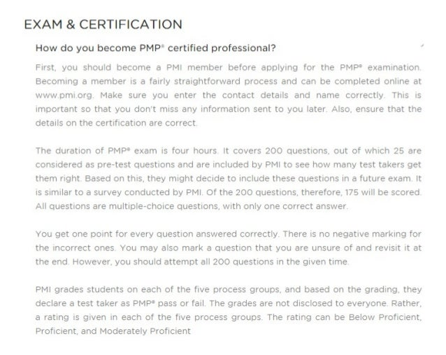 Pmp certification training cost exam fee sample questions course eli exam certification yadclub Gallery