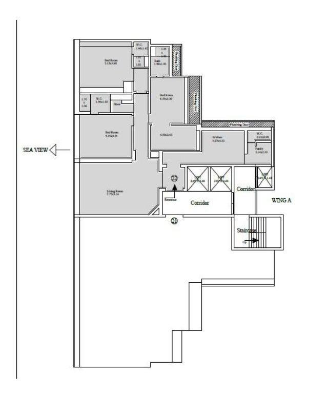 3 BHK, 3096 Sqft, Residential