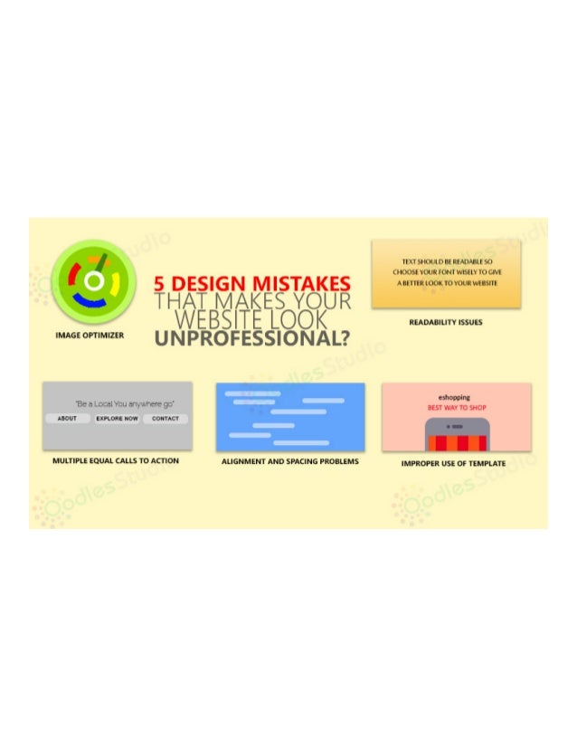 5 Design Mistakes That Make Your Website Look Unprofessional?