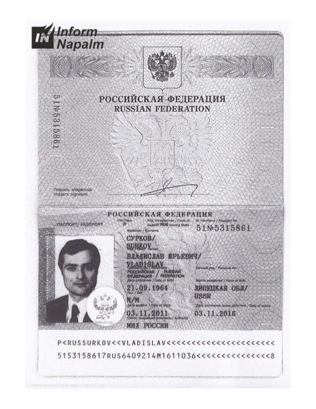 Закордонні документи родини Суркова