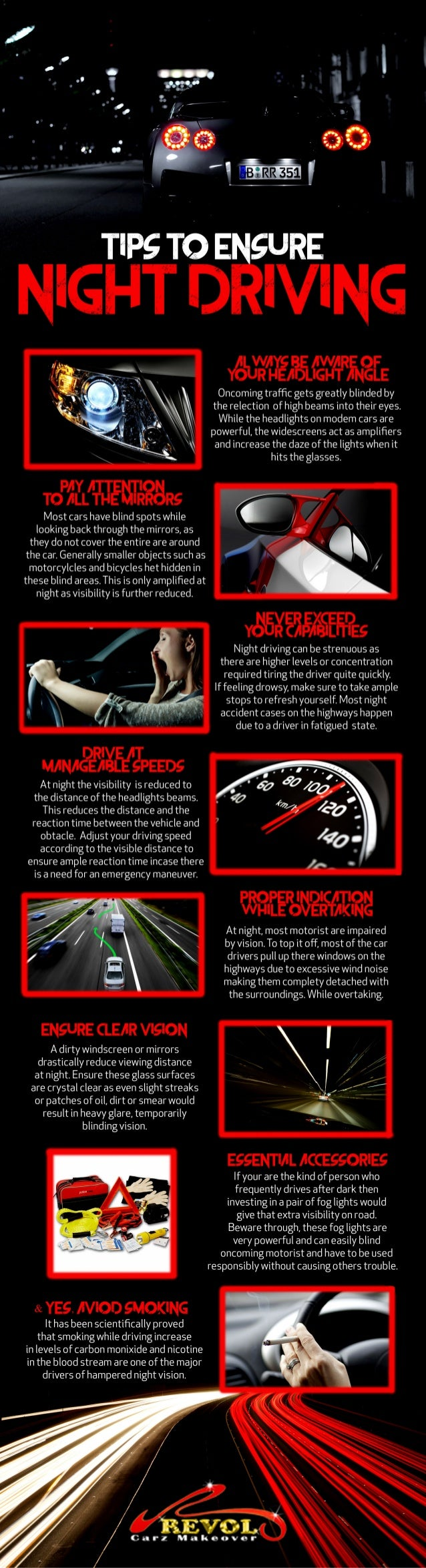 Tips to ensure night driving