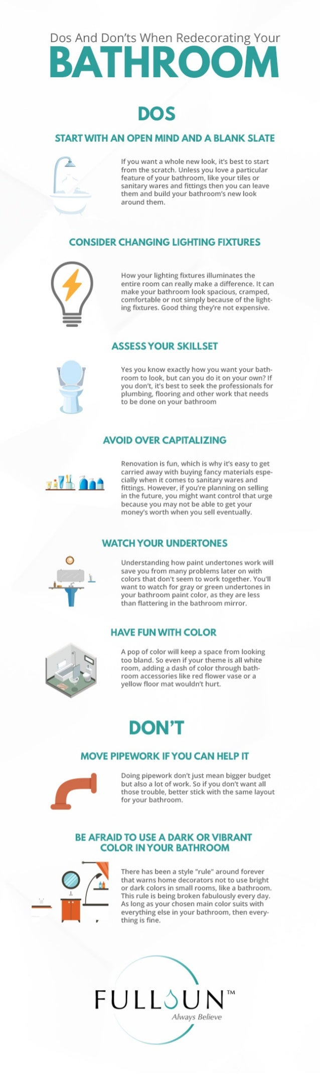 Dos And Don'ts When Redecorating Your Bathroom