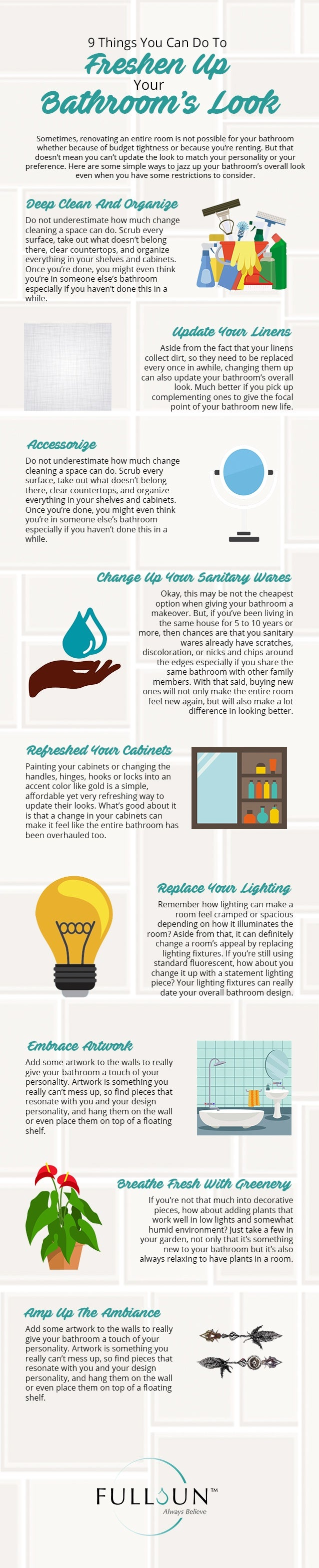 9 Things You Can Do To Freshen Up Your Bathroom's Look