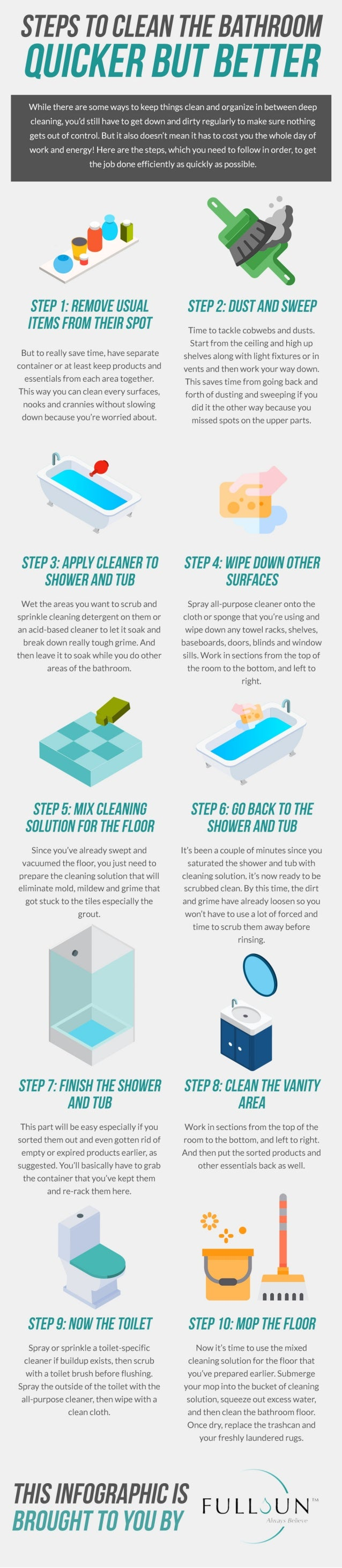 Steps To Clean The Bathroom Quicker But Better