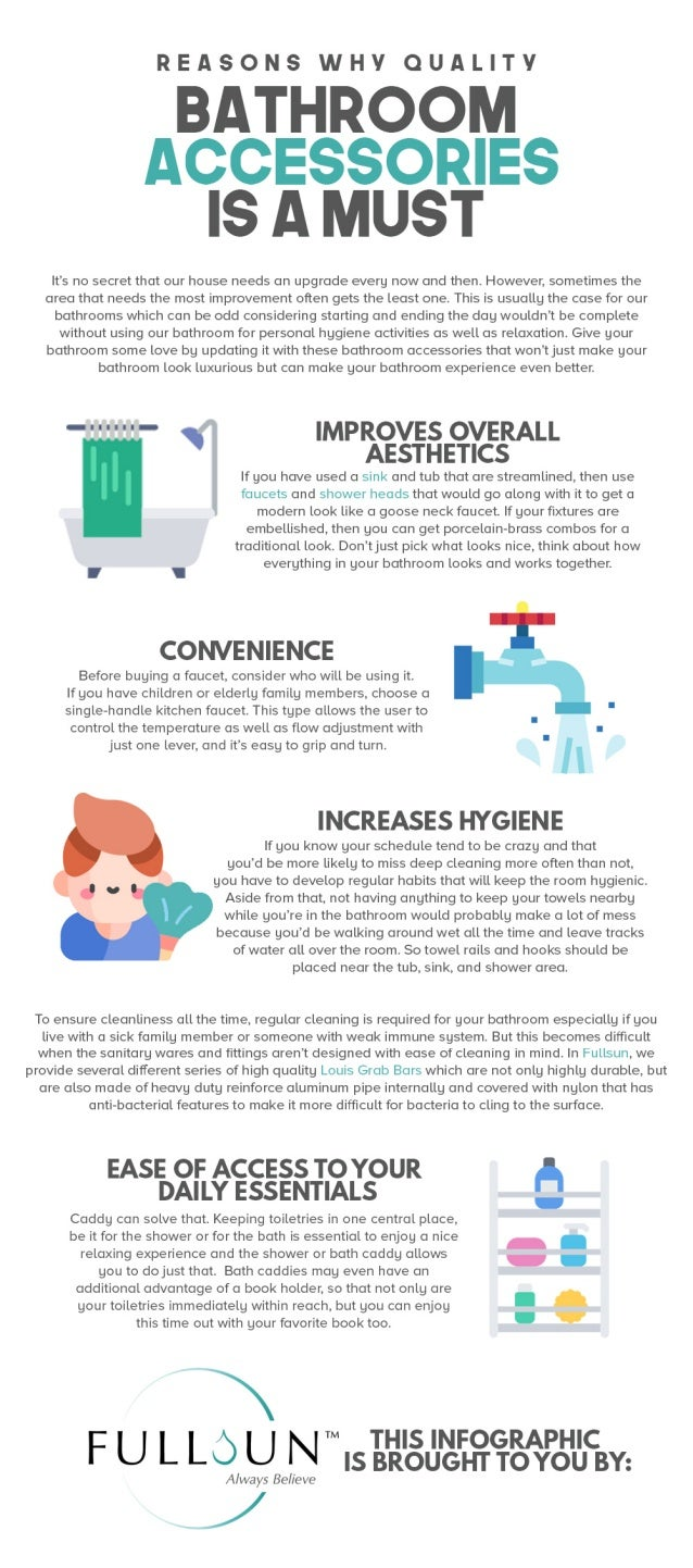Reasons Why Quality Bathroom Accessories Are A Must