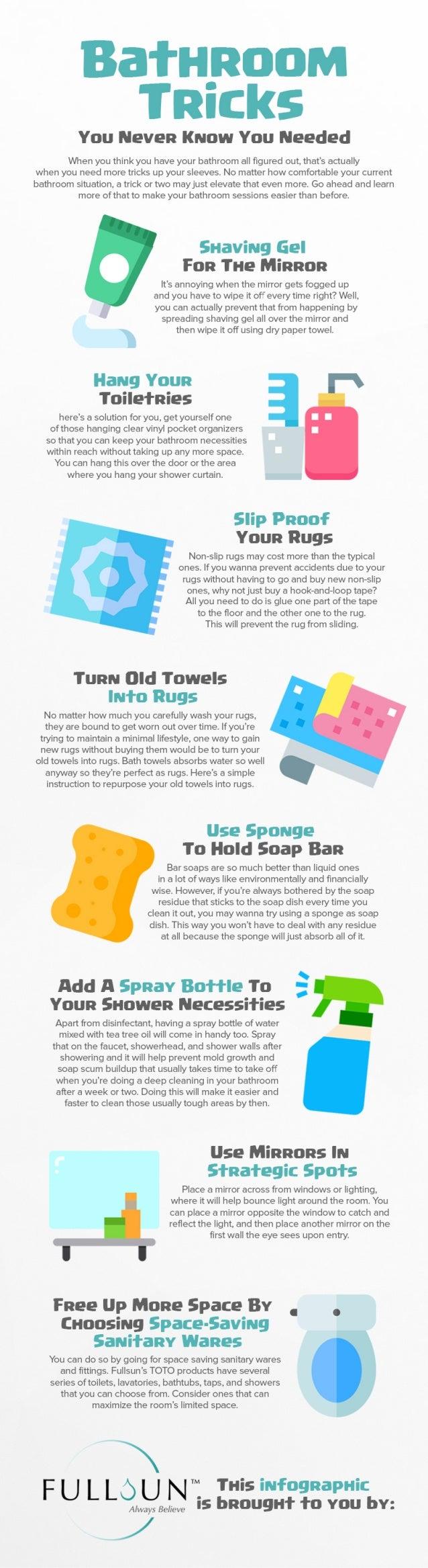 Bathroom Tricks You Never Know You Needed