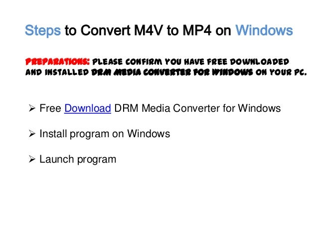 how to change m4v to mp4