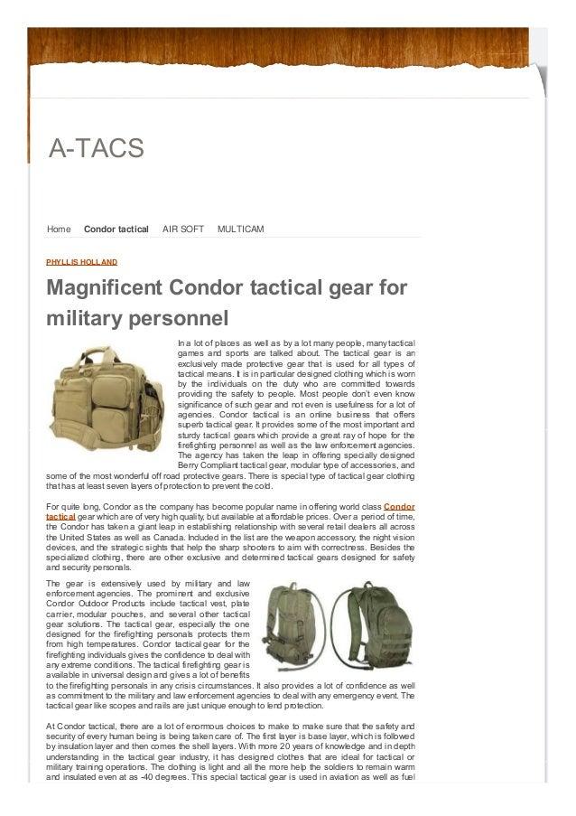 A-TACS Home  Condor tactical  AIR SOFT  MULTICAM  PHYLLIS HOLLAND  Magnificent Condor tactical gear for military personnel...
