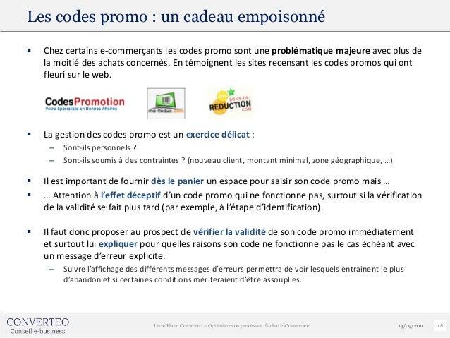 Les codes promo : un cadeau empoisonné   Chez certains e-commerçants les codes promo sont une problématique majeure avec ...