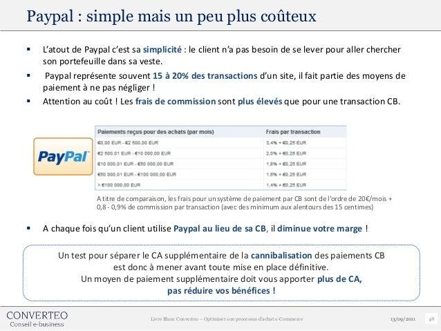 Paypal : simple mais un peu plus coûteux   L'atout de Paypal c'est sa simplicité : le client n'a pas besoin de se lever p...