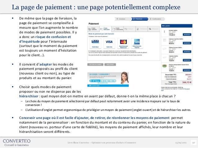 La page de paiement : une page potentiellement complexe   De même que la page de livraison, la    page de paiement se com...