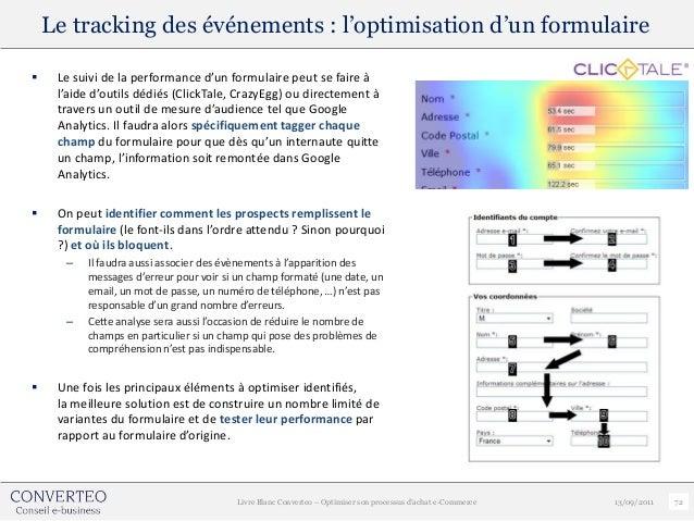Le tracking des événements : l'optimisation d'un formulaire    Le suivi de la performance d'un formulaire peut se faire à...