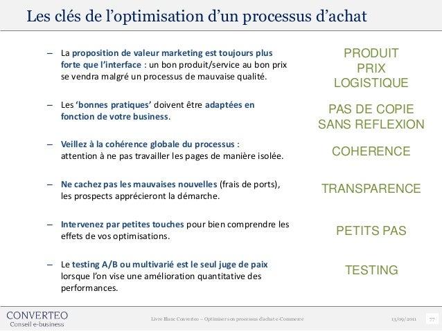 Les clés de l'optimisation d'un processus d'achat  – La proposition de valeur marketing est toujours plus                 ...