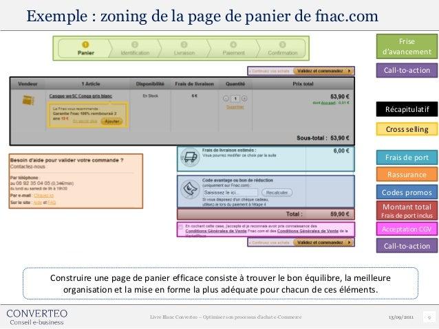 Exemple : zoning de la page de panier de fnac.com                                                                         ...