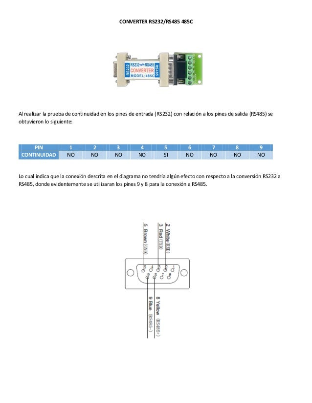 Converter rs232 to rs485