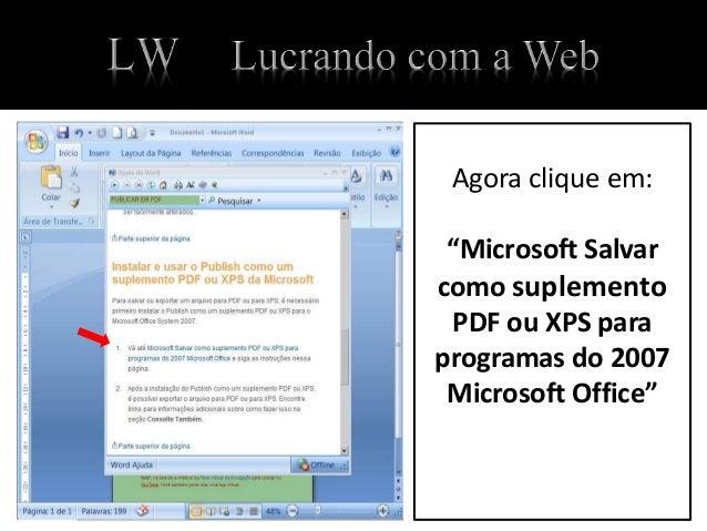 converter para pdf word 2007