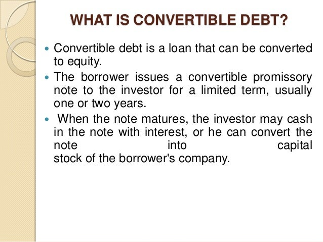 convertible debt We test the existing hypothesis that convertible debt reduces this classical  agency problem of risk-shifting first, we derive a measure of shareholders' risk.