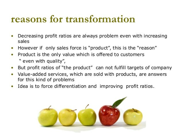 Converting a company from product sales to product sales with value added services Slide 2