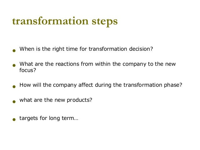 Converting a company from product sales to product sales with value added services Slide 3
