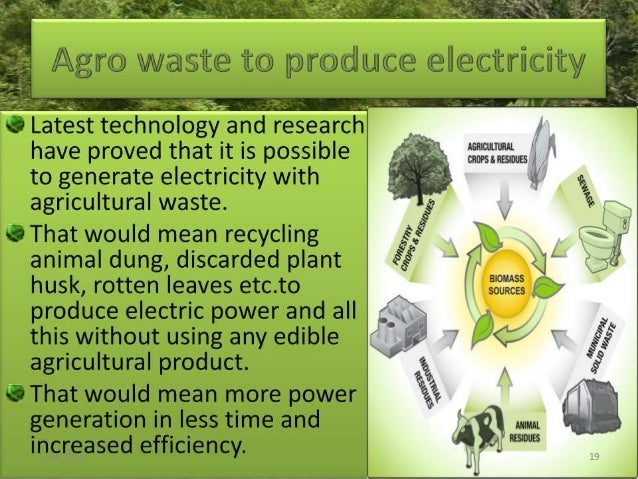 Converting agricultural wastes for useful purpose