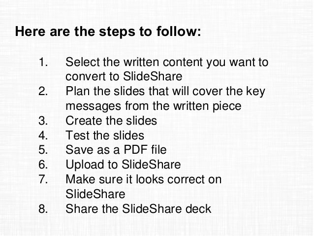 How To A Pdf File From Slideshare