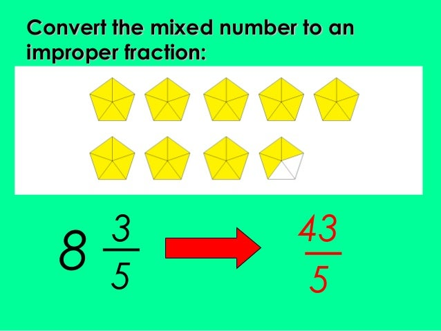 how to add improper fractions with mixed numbers