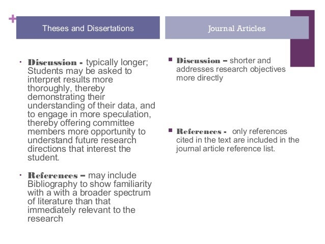 Converting dissertation to journal article
