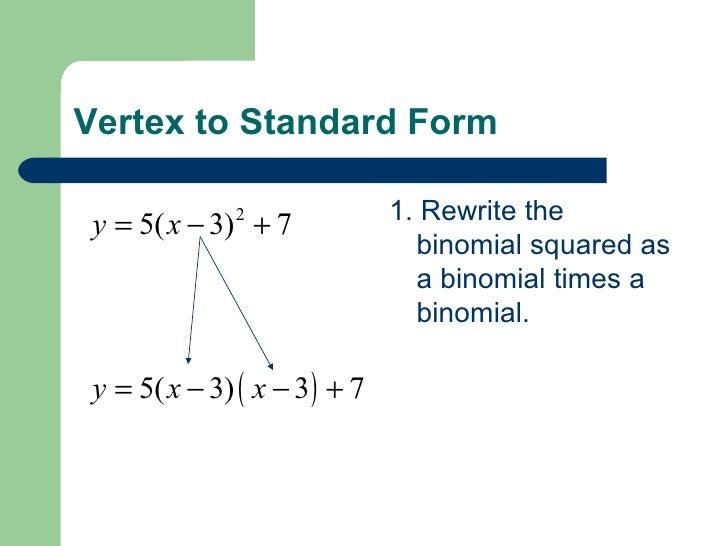 Convert Standard Form To Vertex Form Calculator Dolapgnetband