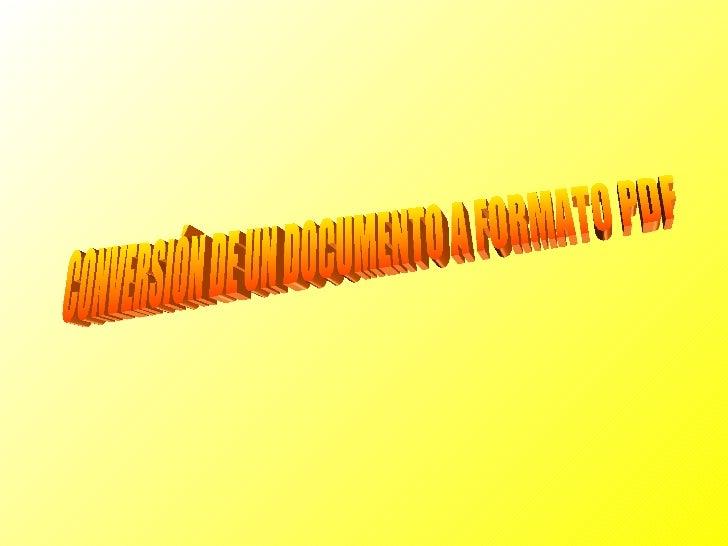 Para hacer la conversión utilizaremos el programaPDF Creator.1- Descargamos el programa:http://sourceforge.net/projects/pd...